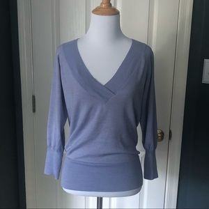 Banana Republic Lavender V-Neck Sweater
